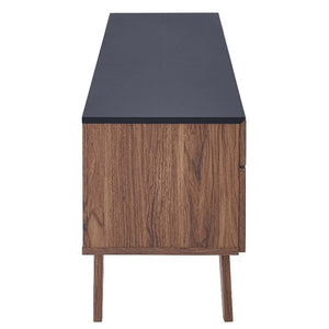 Scope 2 Piece Entertainment Center in Walnut Gray - taylor ray decor
