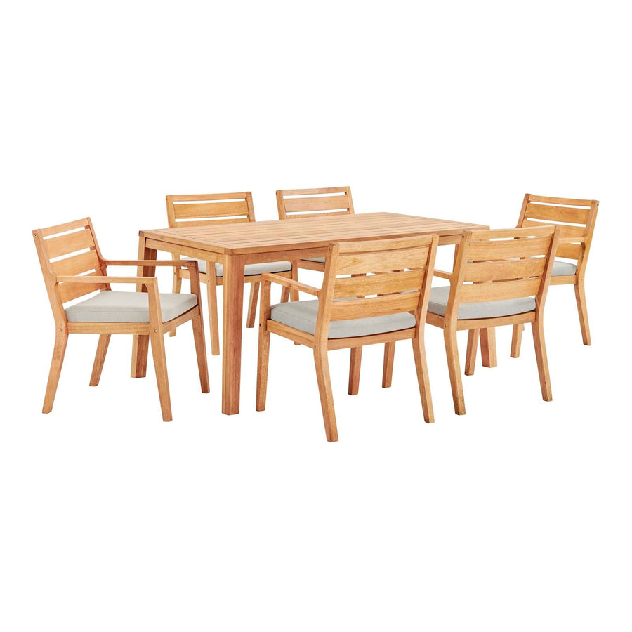 Portsmouth 7-Piece Outdoor Patio Karri Wood Dining Set