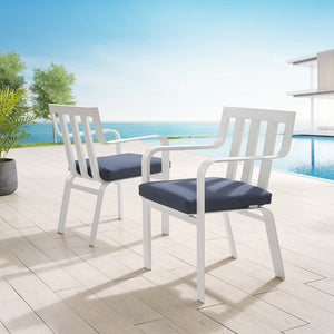Baxley Outdoor Patio Armchairs in Navy