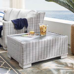 "Conway 32"" Outdoor Patio Wicker Rattan Coffee Table"