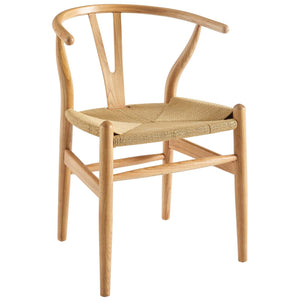 Amish Wood Dining Armchair in Natural
