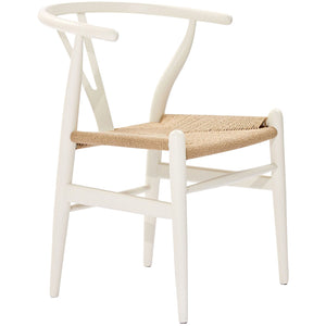 Amish Wood Dining Armchair in White