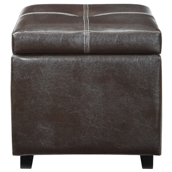 Treasure Upholstered Vinyl Storage Ottoman - taylor ray decor