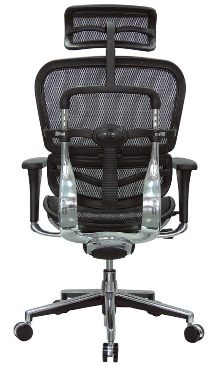 ErgoHuman Black Mesh High Back Executive Chair