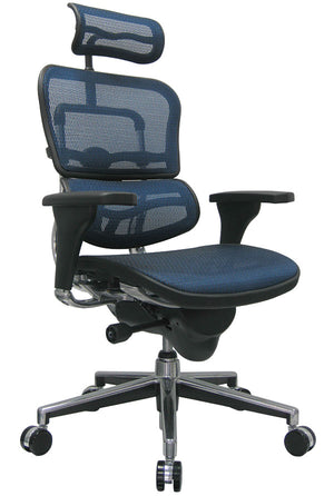 ErgoHuman Blue Mesh High Back Executive Chair