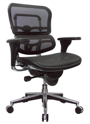 ErgoHuman Black Mesh Mid-Back Executive Chair