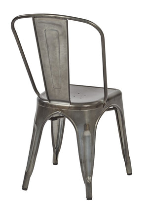 Bristow Armless Metal Dining Chairs, Set of 2