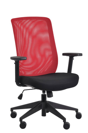 Gene Mesh / Fabric Back Executive Chair in Red Mesh
