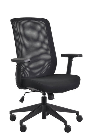 Gene Mesh / Fabric Back Executive Chair in Black Mesh