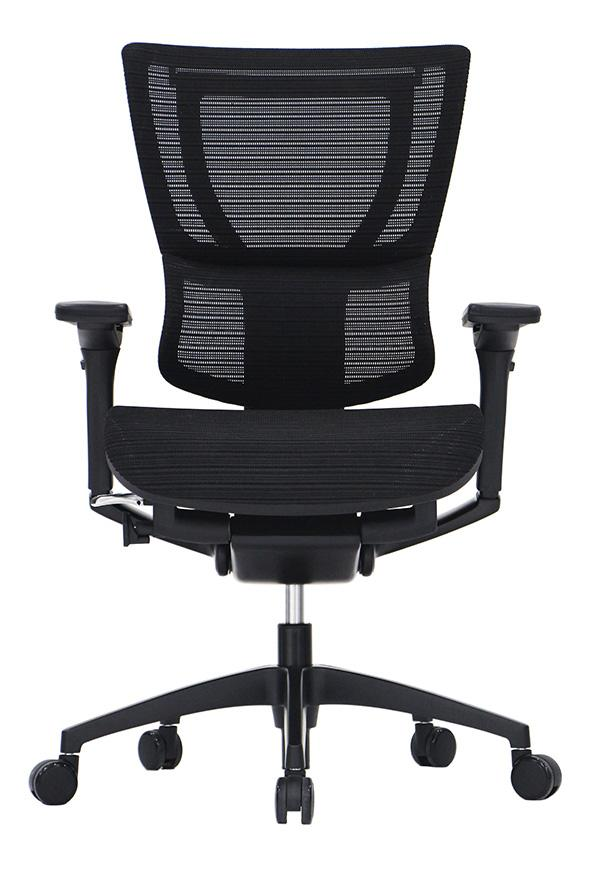 iOO Mesh / Fabric Seat Ergonomic Executive Chair in Black Frame