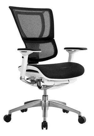 iOO Mesh / Fabric Seat Ergonomic Executive Chair in White Frame (shown with mesh seat)
