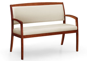 Gatsby Wood Frame 3/4 Back Bariatric Bench (COM) - taylor ray decor