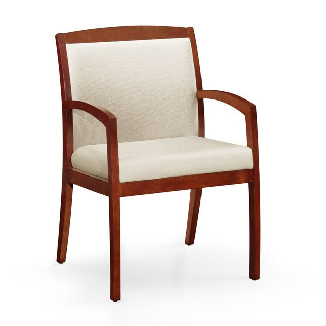 Gatsby Wood Frame Full Back Guest Chair - taylor ray decor