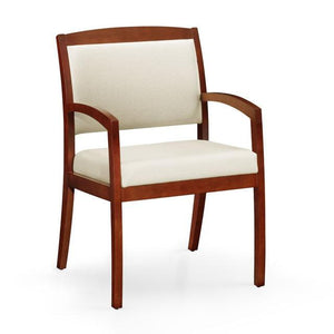 Gatsby Wood Frame 3/4 Back Guest Chair - taylor ray decor
