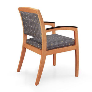 Gatsby Wood Frame 3/4 Back Guest Chair (COM) - taylor ray decor