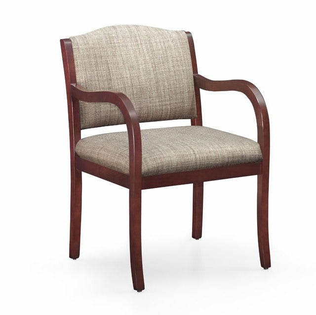 Laurel Wood Frame 3/4 Back Guest Chair - taylor ray decor