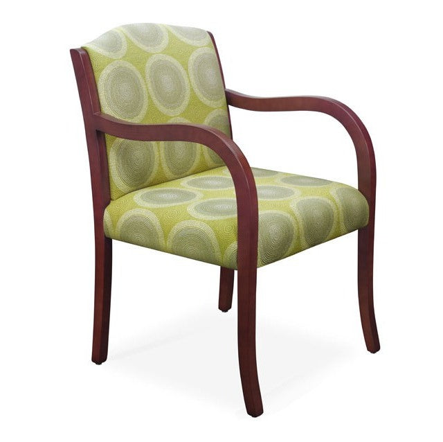 Laurel Wood Frame Full Back Guest Chair
