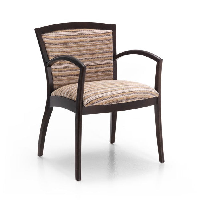 Profile Wood Frame Open Arm Guest Chair - taylor ray decor