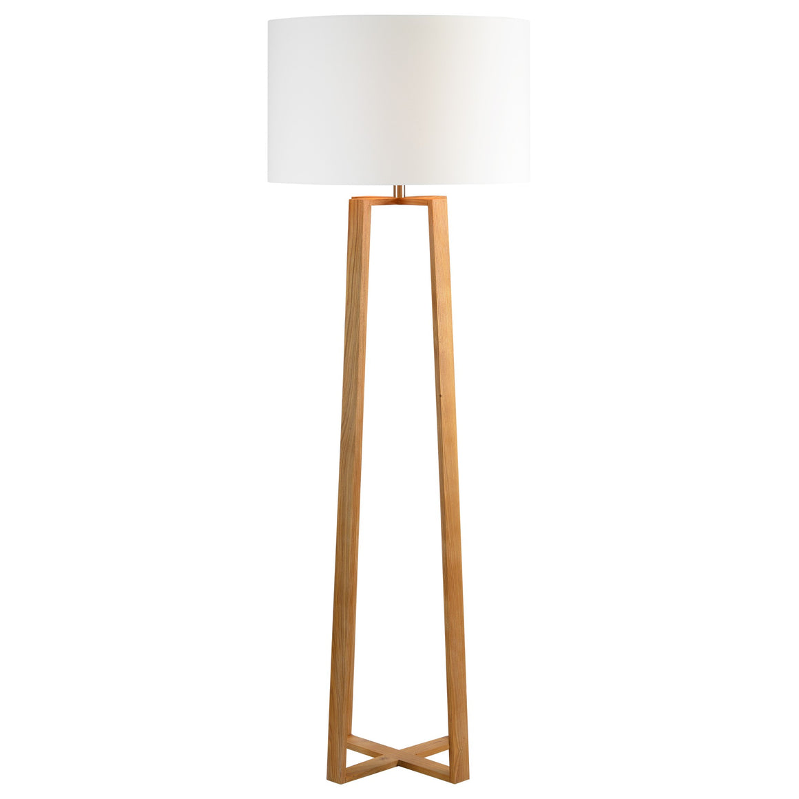 Cranston Natural Wood Floor Lamp