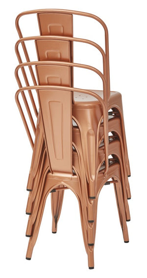 Bristow Armless Metal Dining Chairs, Set of 2 - taylor ray decor