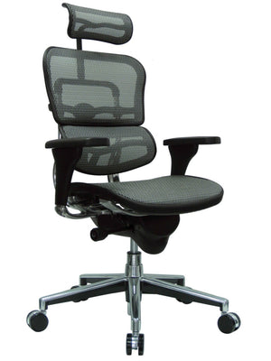 ErgoHuman Grey Mesh High Back Executive Chair