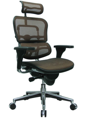 ErgoHuman Orange Copper Mesh High Back Executive Chair