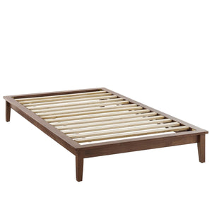 Lodge Twin Size Wood Platform Bed