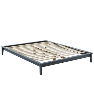 Lodge Queen Size Wood Platform Bed