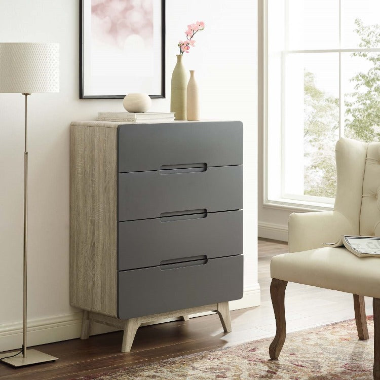 Origin Four-Drawer Chest in Natural Gray - taylor ray decor