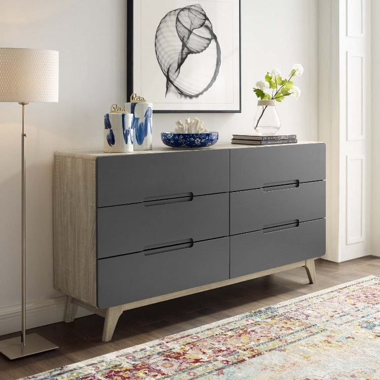 Origin Six-Drawer Dresser or Console in Natural Gray - taylor ray decor
