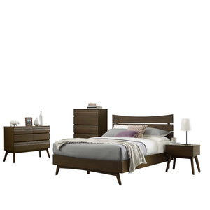 Everly 5 Piece Queen Bedroom Set in Walnut Finish