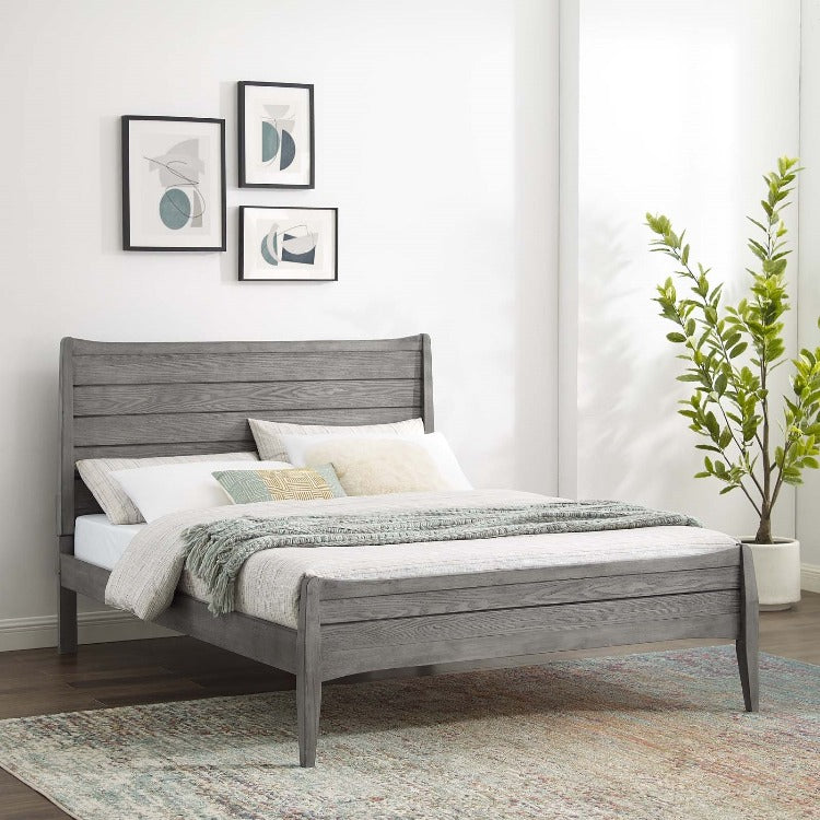 Georgia King Wood Platform Bed - taylor ray decor