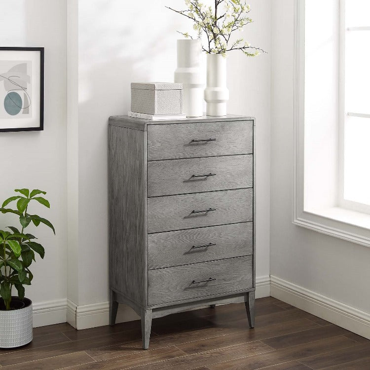 Georgia Five-Drawer Wood Chest - taylor ray decor
