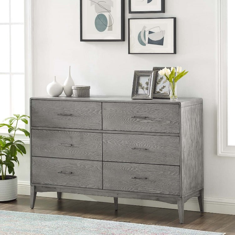 Georgia Six-Drawer Wood Dresser or Console - taylor ray decor