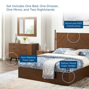 Kali 5 Piece Modern Queen Bedroom Set