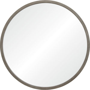 Birman Round Wooden Mirror