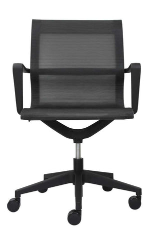 Kinetic Mid-Back Mesh Chair in Black