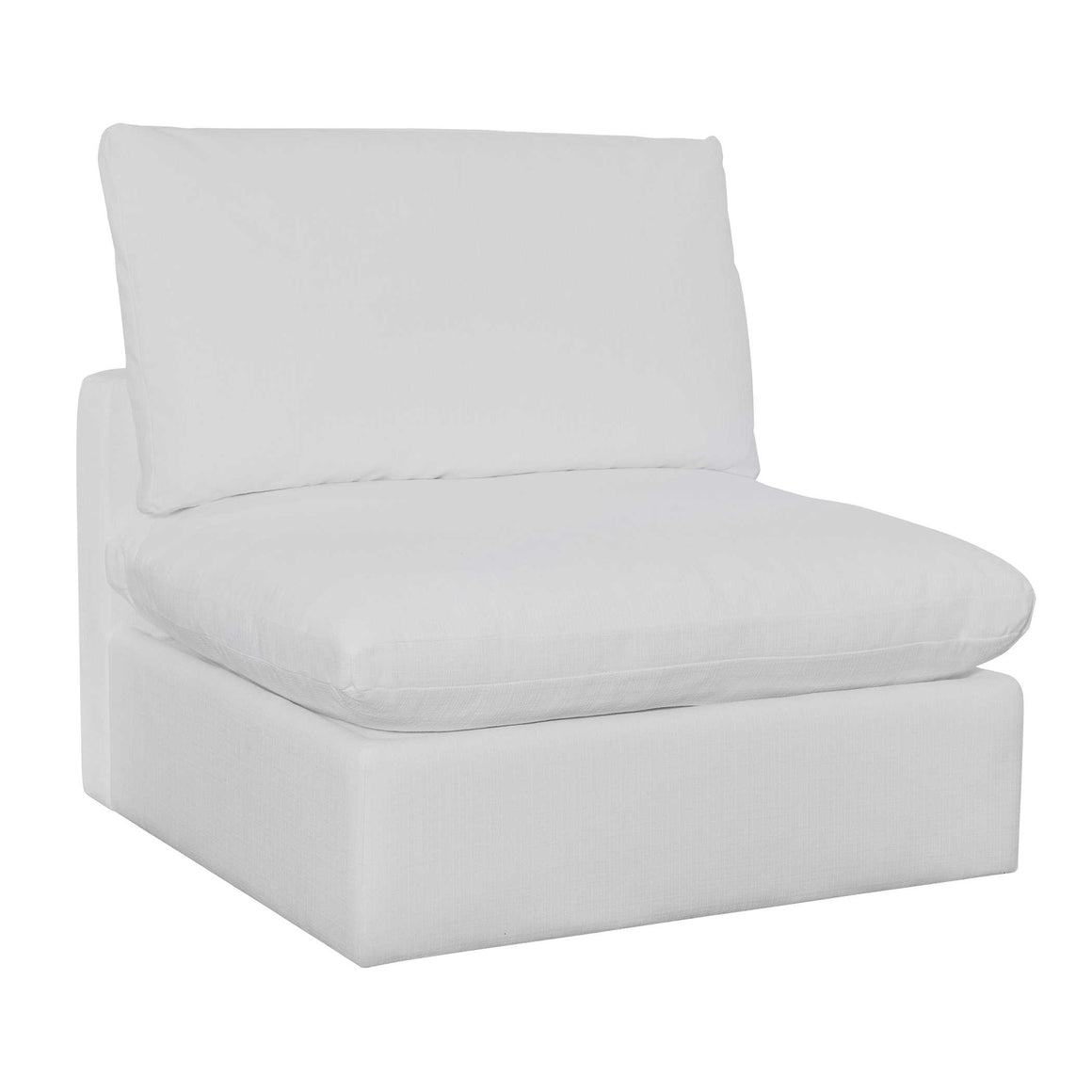 Haven Sofa, Armless in White