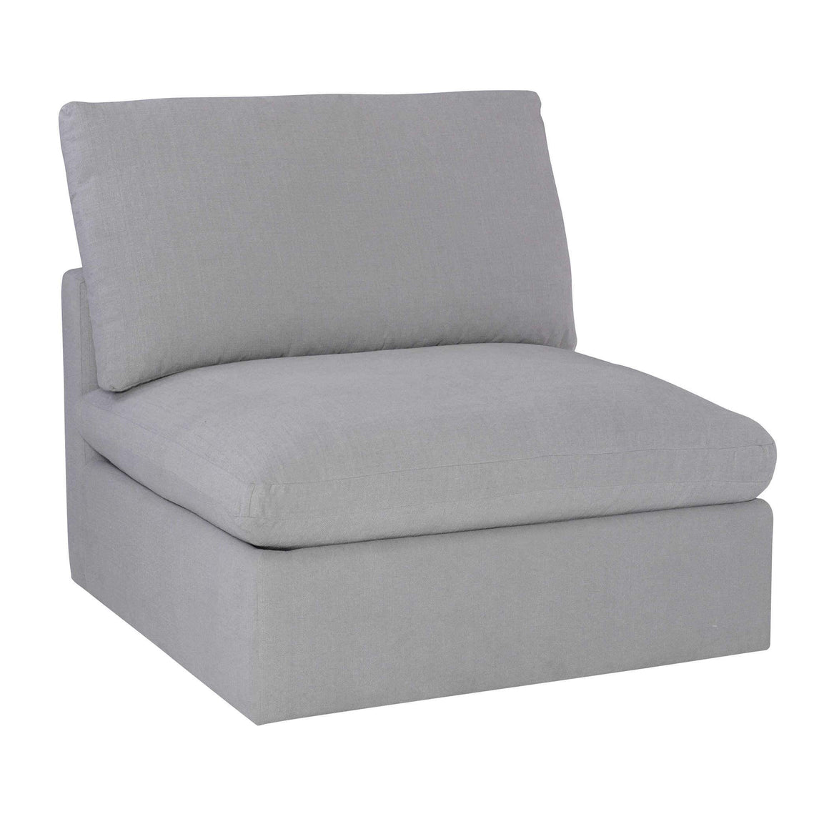 Haven Sofa, Armless in Dove Gray
