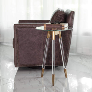 Jonet Accent Table, Brass