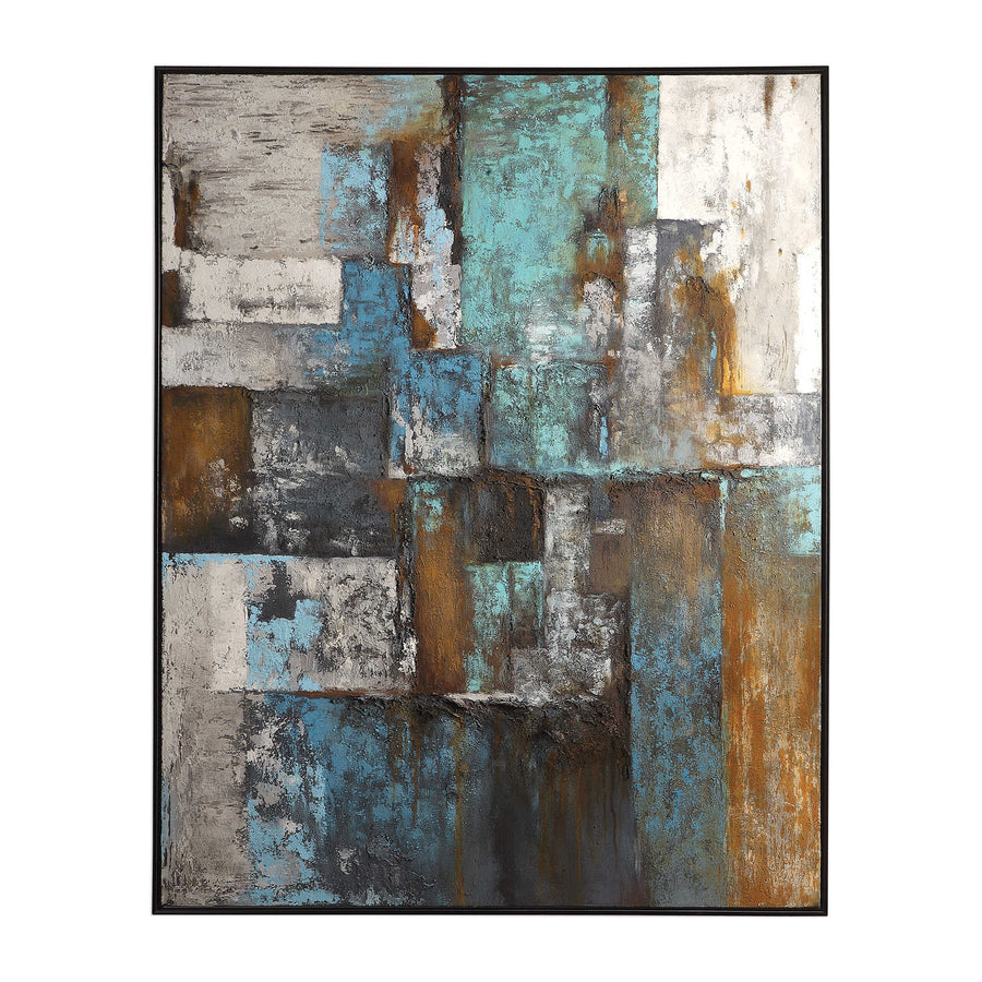 Tiles Abstract Hand Painted Canvas