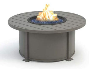 "Breeze 42"" Coffee Fire Pit (Valero Aluminum Base) Storm Top/Frame & Panels (Sapphire Glass shown)"
