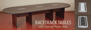 Expandable 14' Racetrack Conference Table - taylor ray decor