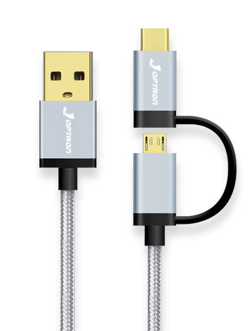Japtron TWN120B 2-in-1 USB Type-C 快速充電線