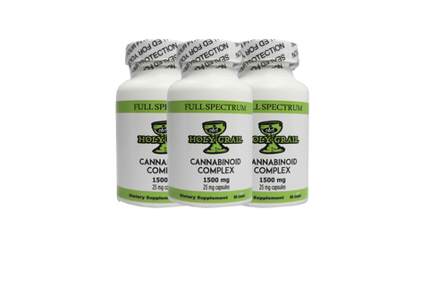 25MG Cbd Capsules 60 CT 1500MG Bottle - All CBD Co