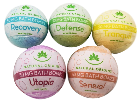 Natural Origins CBD Scented Bath Bombs - All CBD Co