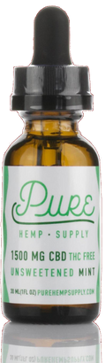 Pure Hemp Supply - Full Spectrum Oil Tincture - 1500MG - Unsweetened Mint