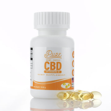 Pure Hemp Supply - CBD + Vitamin D Softgel Supplements