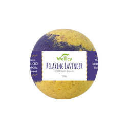Wellicy CBD - Relaxing Lavender CBD Bath Bomb