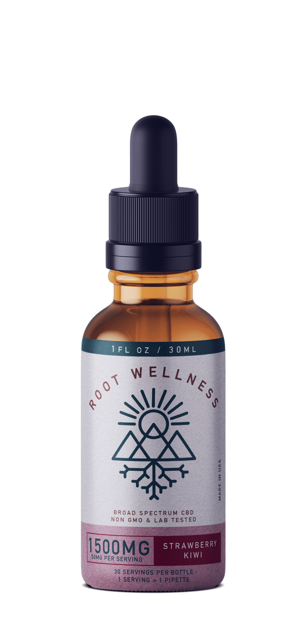 Root Wellness - Strawberry Kiwi Tincture - All CBD Co